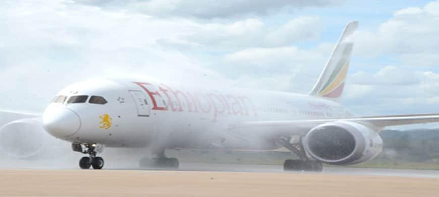 Transport aérien – Arrivée en fanfare d'Ethiopian Airlines