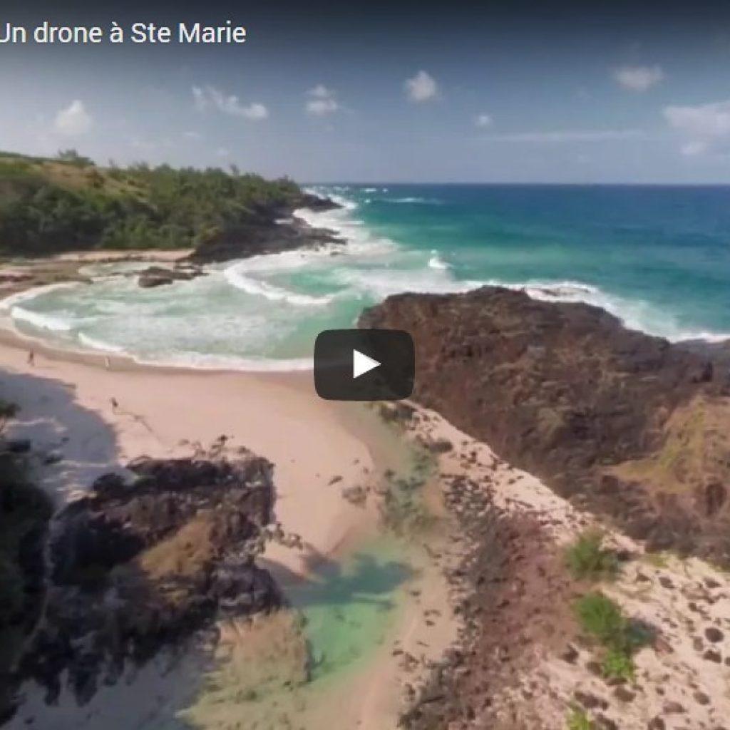 Sainte-Marie in Madagaskar durch eine Drohne gesehen