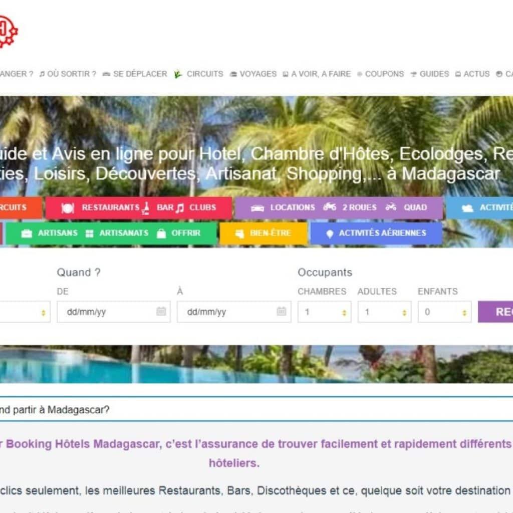 Comment s'inscrire sur Booking Hôtel Madagascar ?