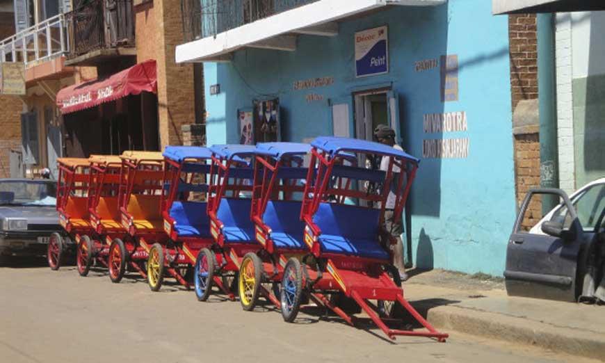 pousse-pousse à Antsirabe